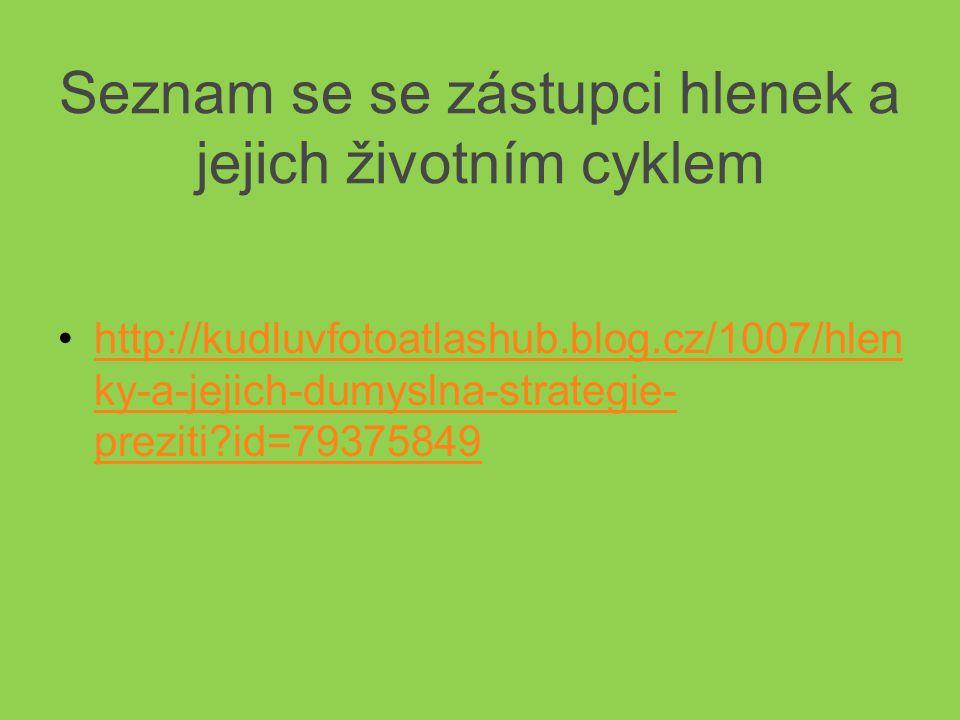 Seznam se se zástupci hlenek a jejich životním cyklem •http://kudluvfotoatlashub.blog.cz/1007/hlen ky-a-jejich-dumyslna-strategie- preziti?id=79375849