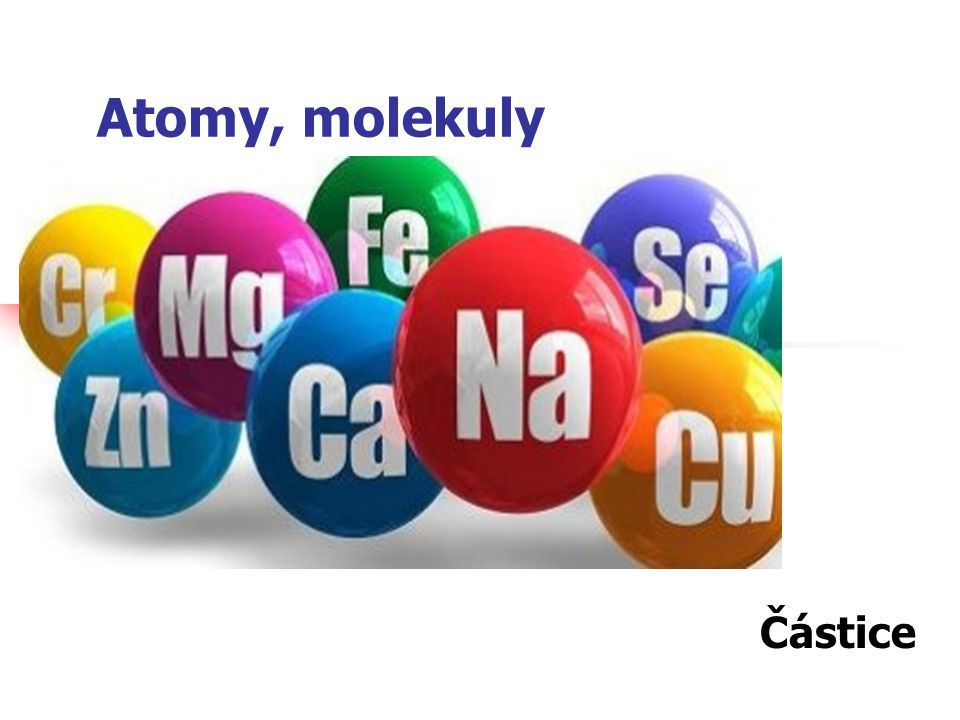 Atomy, molekuly Částice