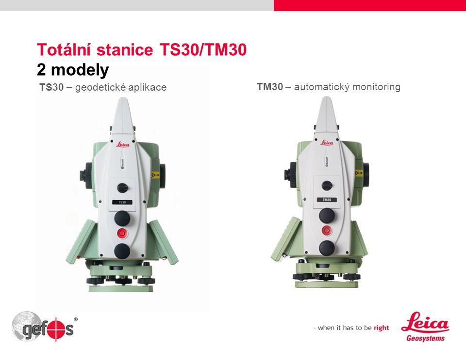 13 Totální stanice TS30/TM30 2 modely TS30 – geodetické aplikace TM30 – automatický monitoring