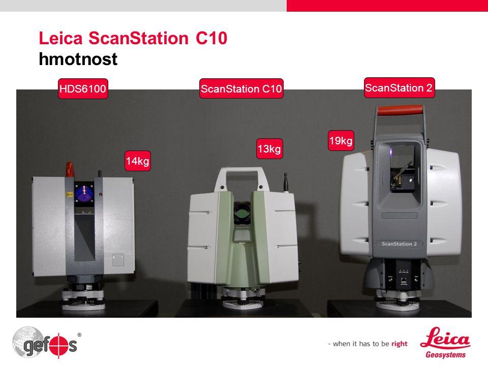 25 Leica ScanStation C10 hmotnost 13kg 19kg ScanStation C10 HDS6100 ScanStation 2 14kg