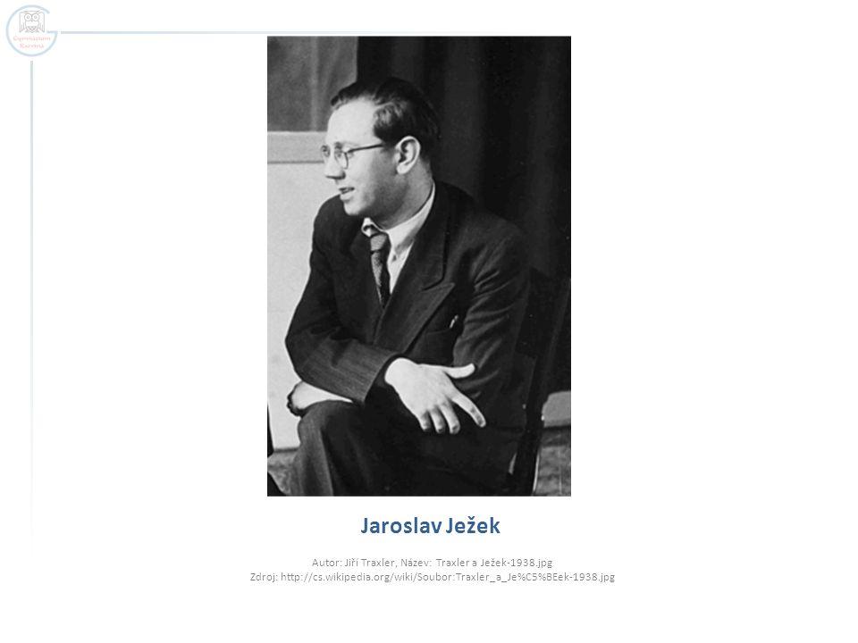 Jaroslav Ježek Autor: Jiří Traxler, Název: Traxler a Ježek-1938.jpg Zdroj: http://cs.wikipedia.org/wiki/Soubor:Traxler_a_Je%C5%BEek-1938.jpg