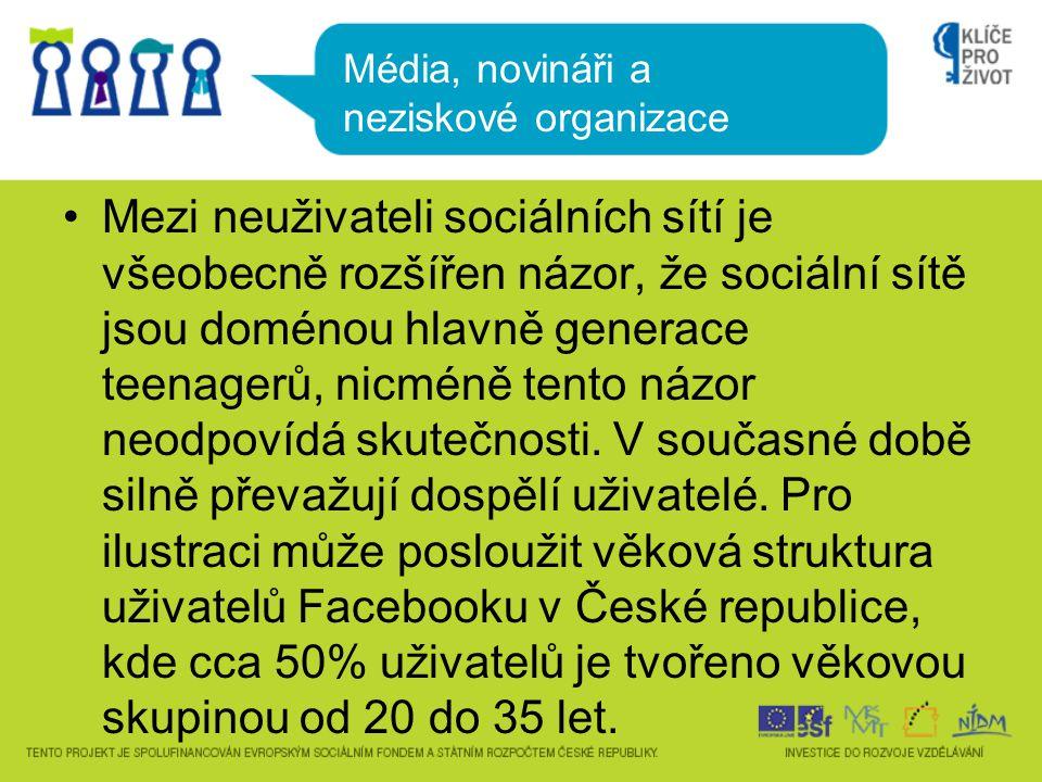 •Mezi neuživateli sociálních sítí je všeobecně rozšířen názor, že sociální sítě jsou doménou hlavně generace teenagerů, nicméně tento názor neodpovídá skutečnosti.