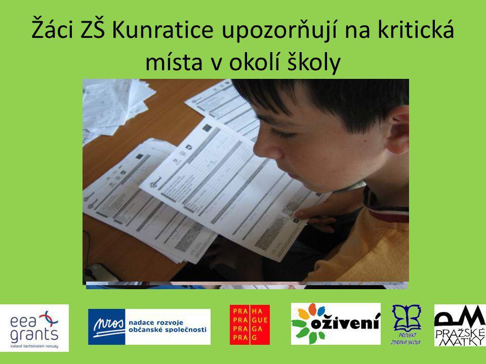 Žáci ZŠ Kunratice upozorňují na kritická místa v okolí školy
