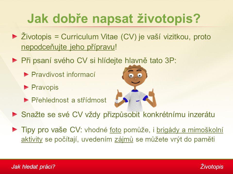 Životopis Jak dobře napsat životopis.