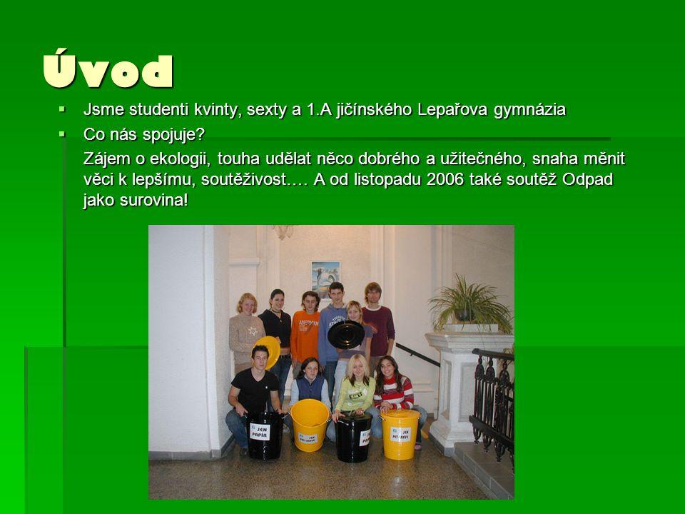 Úvod  Jsme studenti kvinty, sexty a 1.A jičínského Lepařova gymnázia  Co nás spojuje.