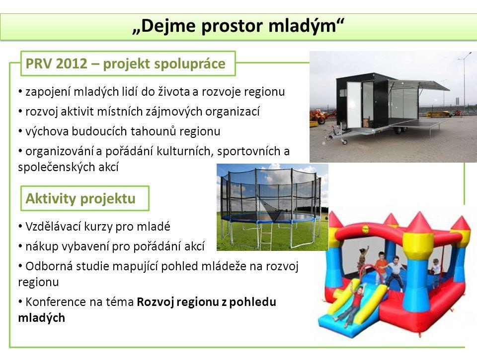 """PRV 2012 – projekt spolupráce """"Dejme prostor mladým"""" • zapojení mladých lidí do života a rozvoje regionu • rozvoj aktivit místních zájmových organizac"""