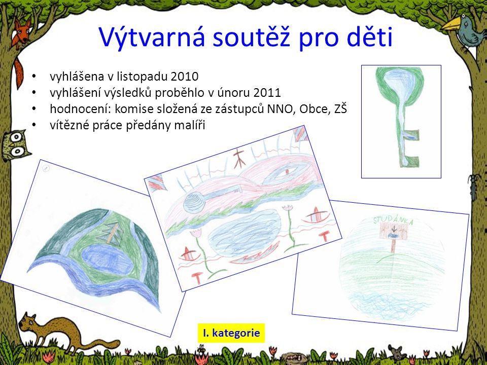 Výtvarná soutěž pro děti • vyhlášena v listopadu 2010 • vyhlášení výsledků proběhlo v únoru 2011 • hodnocení: komise složená ze zástupců NNO, Obce, ZŠ