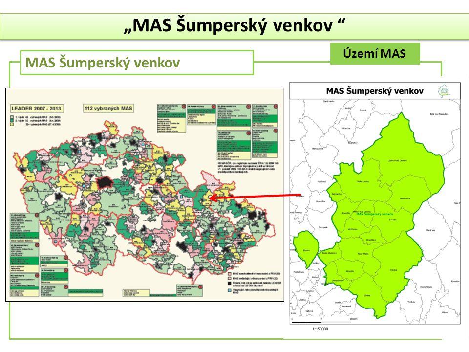 """Území MAS MAS Šumperský venkov """"MAS Šumperský venkov """""""