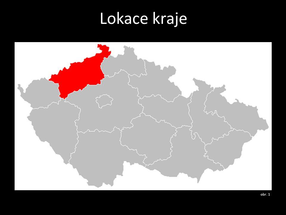 Charakteristika kraje • hranici s Německem (spolková země Sasko) tvoří z větší části hřeben Krušných hor, které pokračují do Karlovarského kraje • tranzitní oblast pro zájezdy do BRD (Drážďany, Berlín) • nejvyšší hora: Klínovec 1 244 m n.m.
