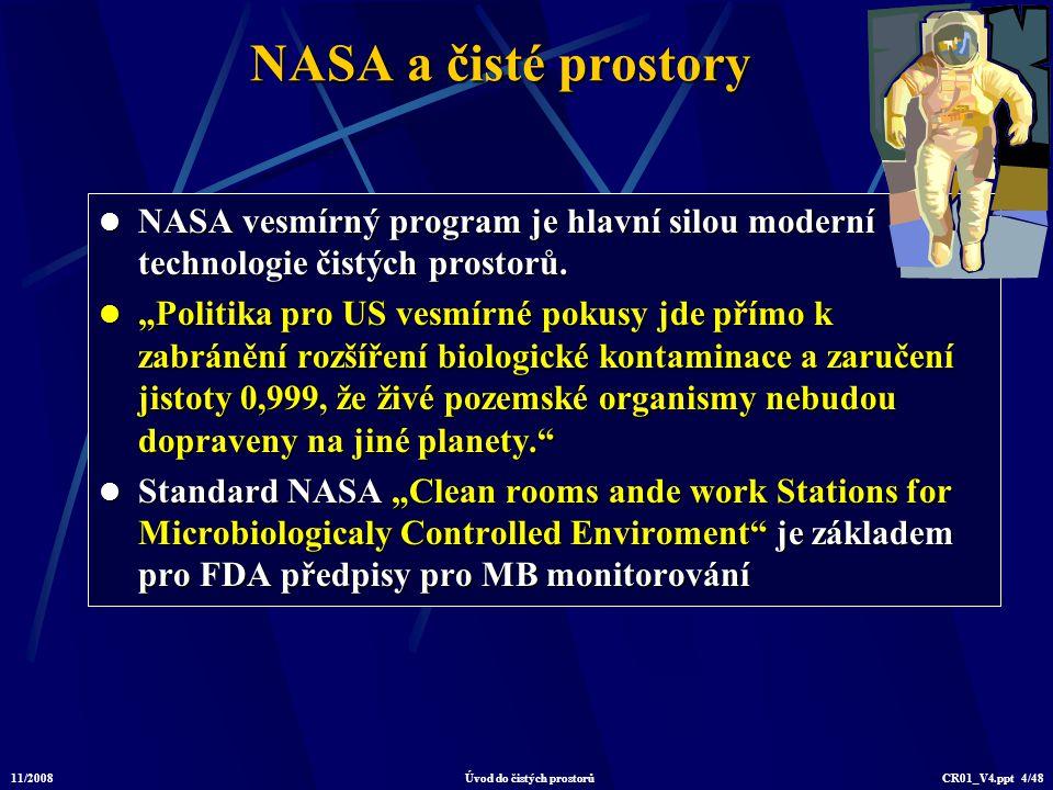 11/2008Úvod do čistých prostorůCR01_V4.ppt 15/48 Čistý prostor