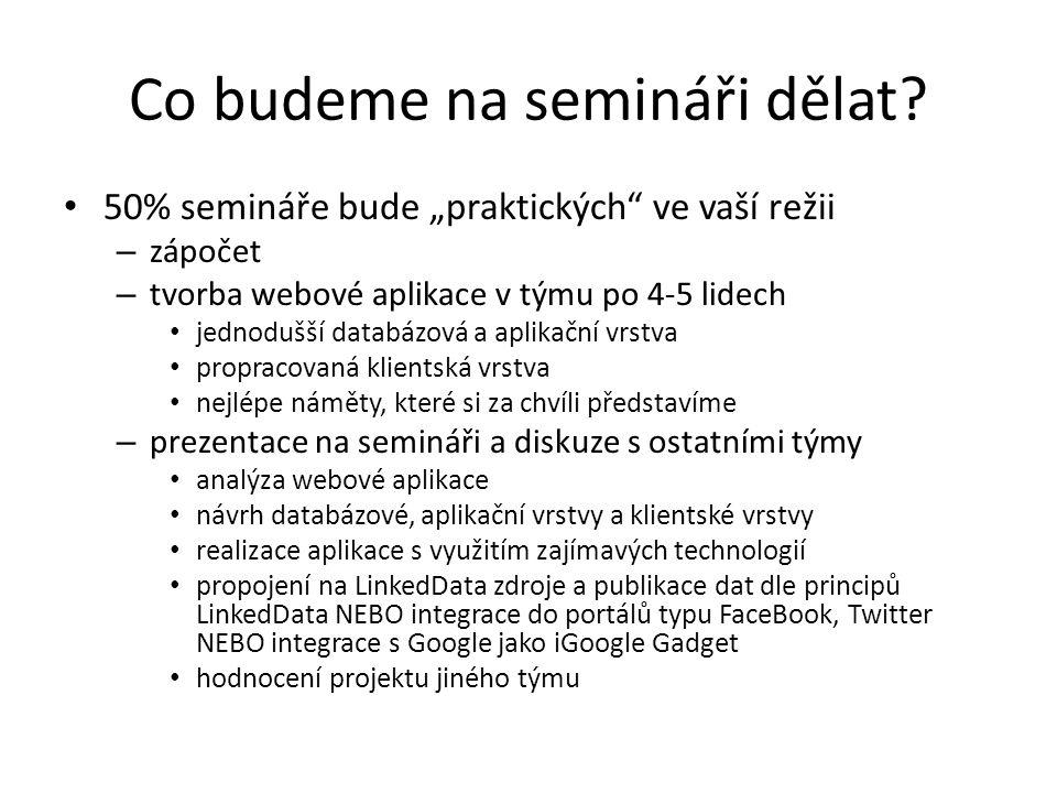 Co budeme na semináři dělat.