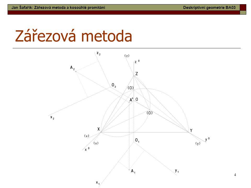 4 Zářezová metoda Jan Šafařík: Zářezová metoda a kosoúhlé promítáníDeskriptivní geometrie BA03