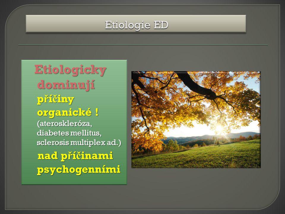 Etiologicky dominují p ř í č iny organické .