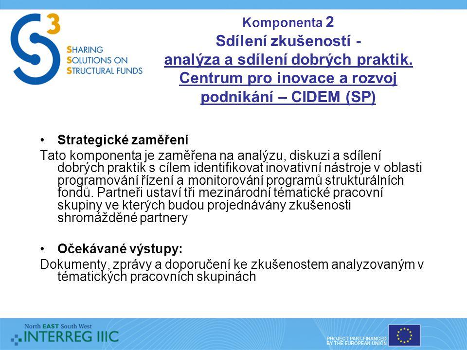 Komponenta 2 Sdílení zkušeností - analýza a sdílení dobrých praktik.