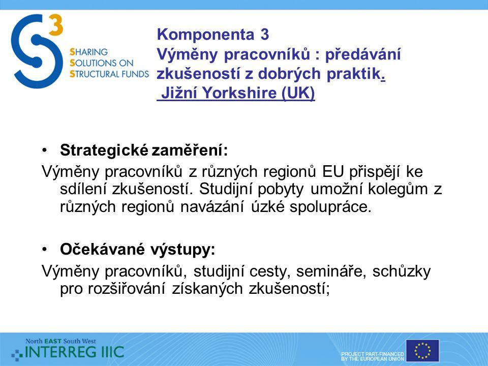 Komponenta 4 Výsledky spolupráce: rozšiřování zkušeností a informační aktivity.