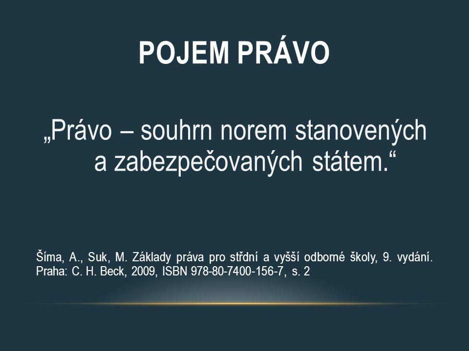POUŽITÁ LITERATURA Šíma, A., Suk, M.Základy práva pro střední a vyšší odborné školy, 9.
