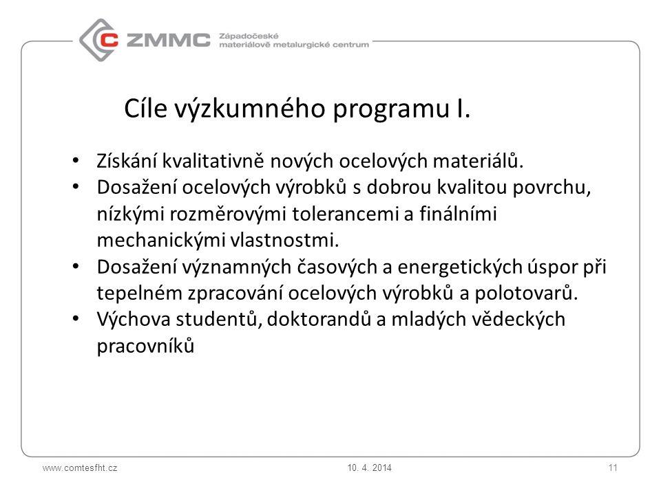 www.comtesfht.cz Získání kvalitativně nových ocelových materiálů.