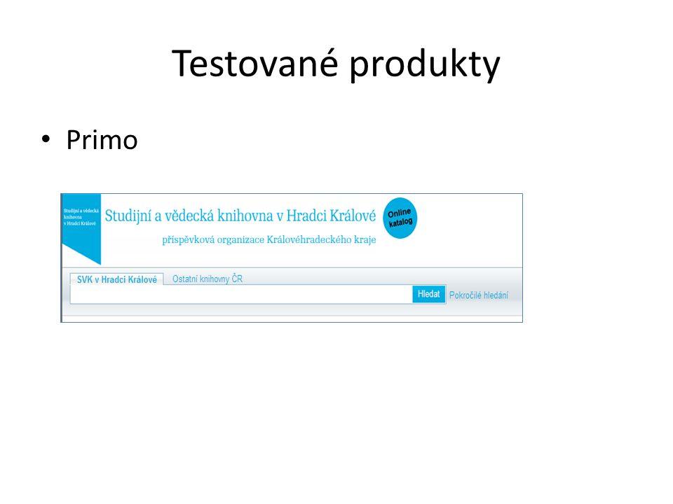 Testované produkty Primo