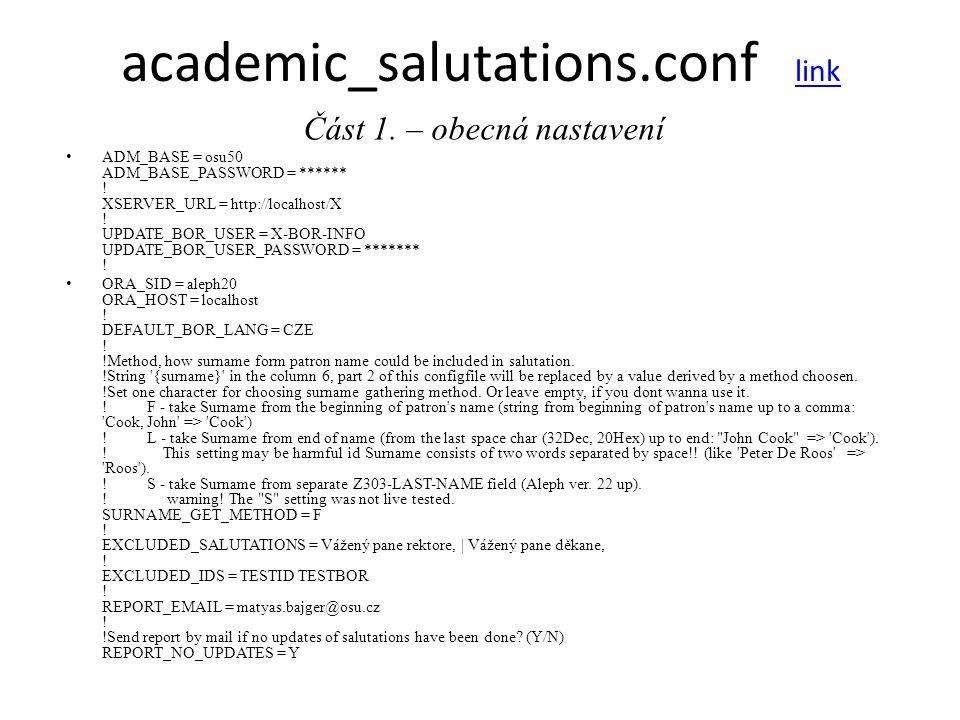 academic_salutations.conf link link Část 2.