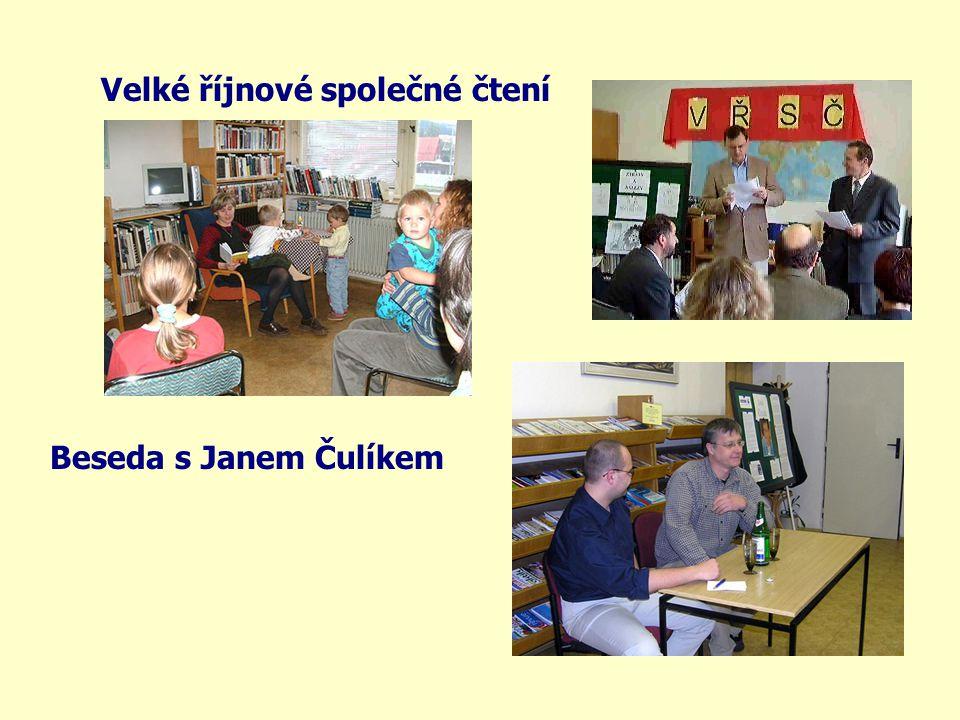 Velké říjnové společné čtení Beseda s Janem Čulíkem