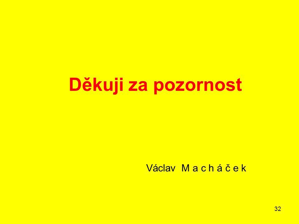 32 Děkuji za pozornost Václav M a c h á č e k