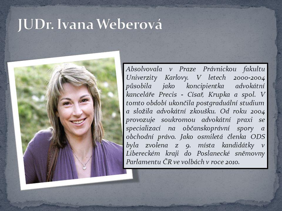 Absolvovala v Praze Právnickou fakultu Univerzity Karlovy. V letech 2000-2004 působila jako koncipientka advokátní kanceláře Precis - Císař, Krupka a