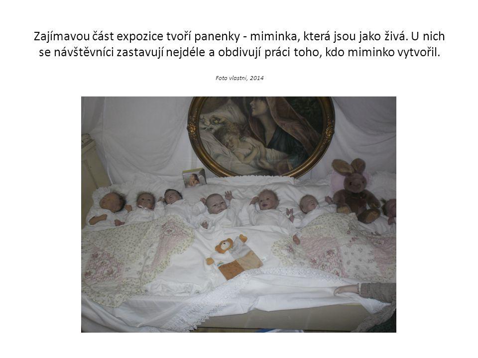 Zajímavou část expozice tvoří panenky - miminka, která jsou jako živá. U nich se návštěvníci zastavují nejdéle a obdivují práci toho, kdo miminko vytv