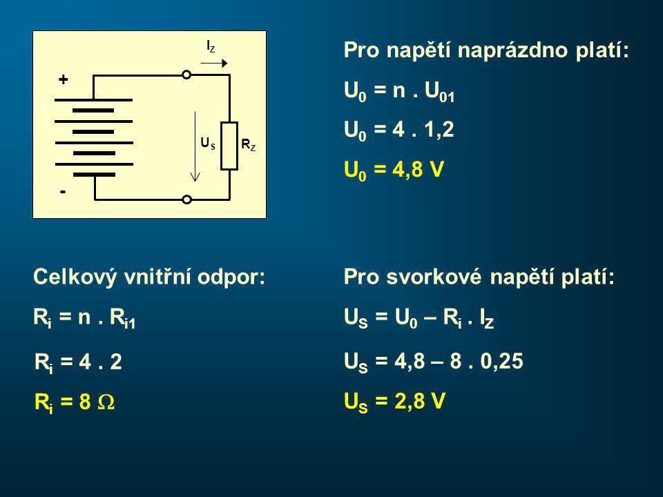 Pro napětí naprázdno platí: U 0 = n.