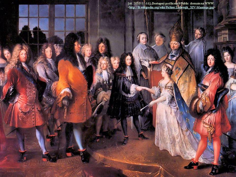 [cit. 2010-11-11]. Dostupný pod licencí Public domain na WWW: http://fr.wikipedia.org/wiki/Fichier:Lodewijk_XIV-Marriage.jpg