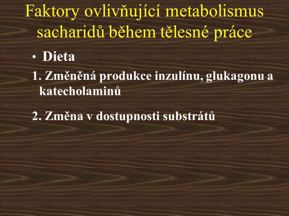 Faktory ovlivňující metabolismus sacharidů během tělesné práce Dieta 1.