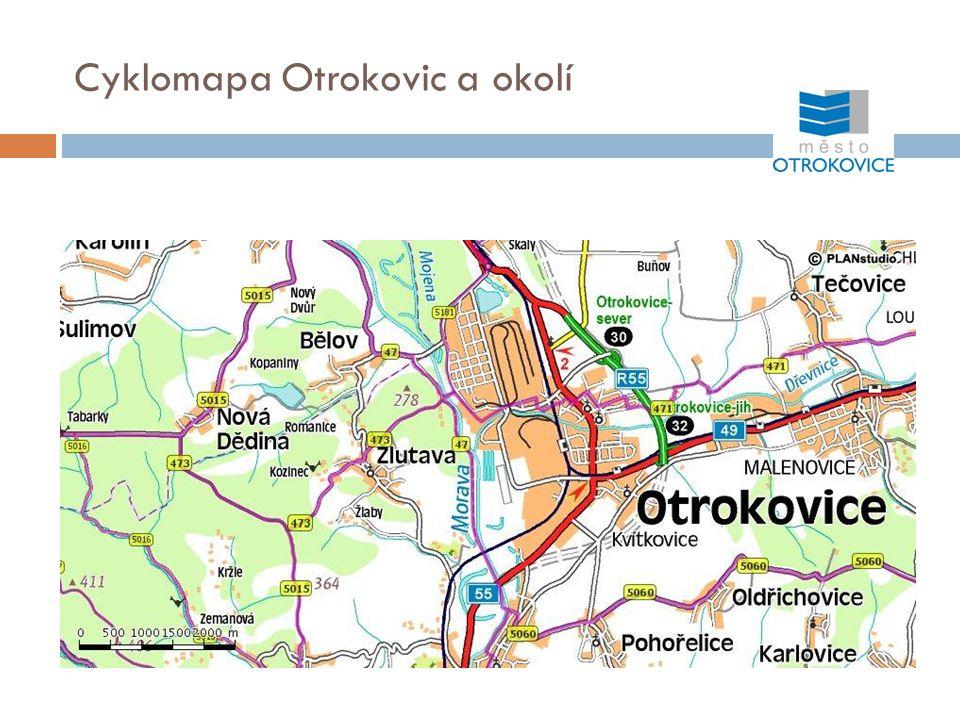 Obsah - cyklomapa Otrokovic a okolí - výstavba stezky pro chodce a cyklisty podél Moravy – Baťova kanálu - cyklostezka - tř.