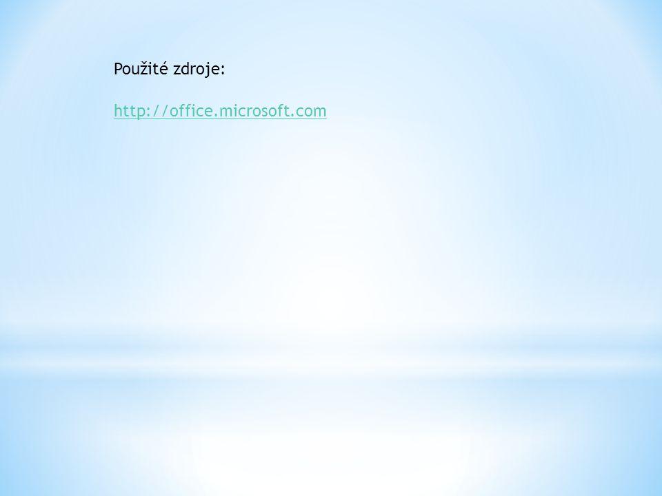 Použité zdroje: http://office.microsoft.com