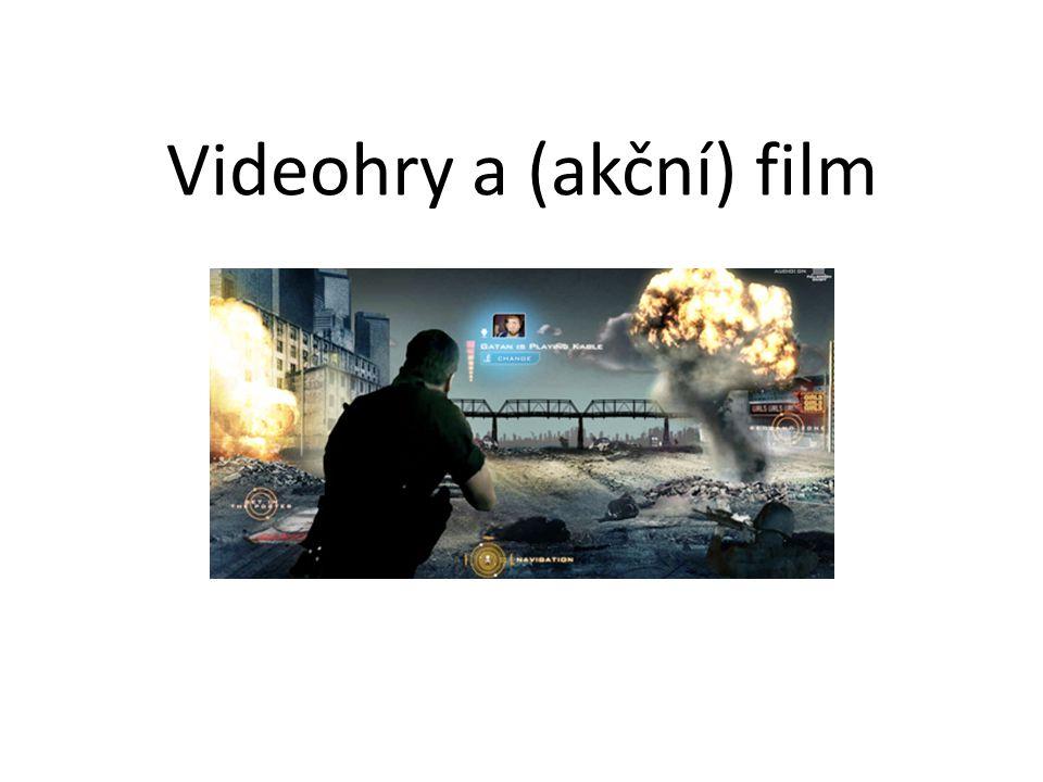 Oblasti průniku videoher a filmů filmové adaptace videoher (mezinárodní/japonské, hrané/animované…) neoficiální fanouškovské krátké filmy filmy vyprávějící o videohrách a/nebo přejímající jejich logiku, styl, prvky… dokumenty o videohrách, hráčích, vývojářích… machinima videoherní adaptace filmů; využívání konvencí filmového jazyka ve hrách obecně