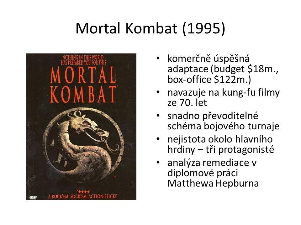 Mortal Kombat (1995) komerčně úspěšná adaptace (budget $18m., box-office $122m.) navazuje na kung-fu filmy ze 70.