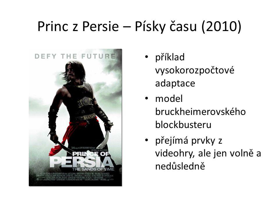 Princ z Persie – Písky času (2010) příklad vysokorozpočtové adaptace model bruckheimerovského blockbusteru přejímá prvky z videohry, ale jen volně a nedůsledně