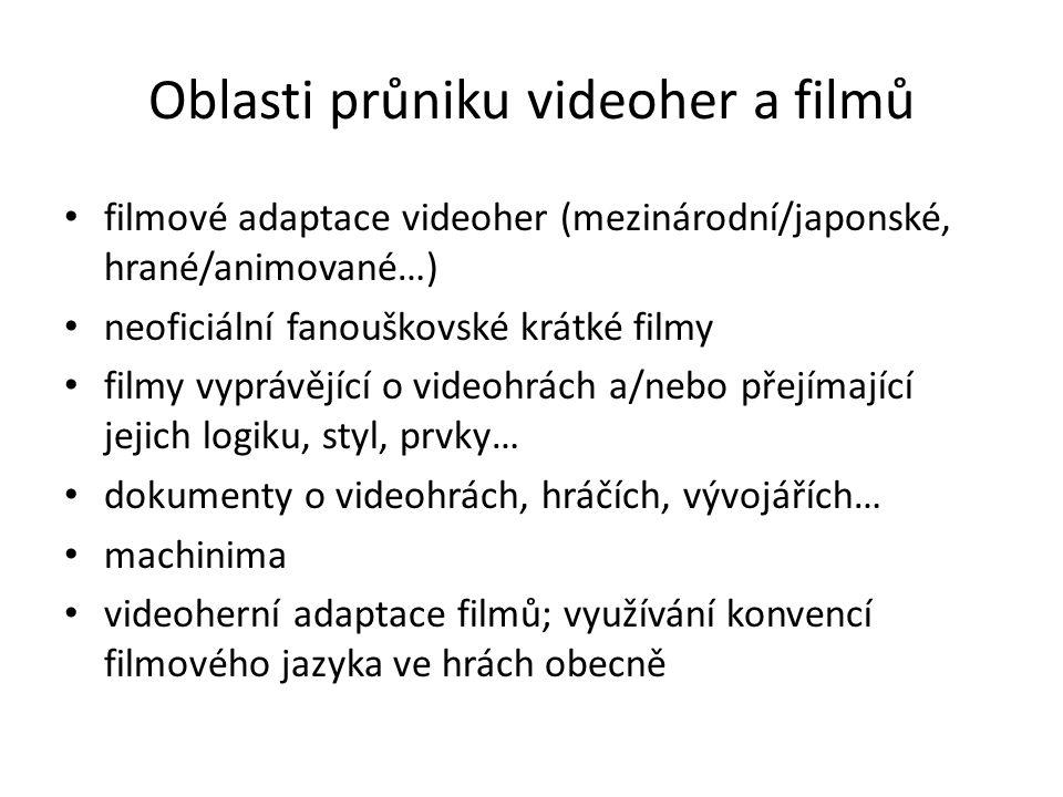 Teoretický rámec Matteo Bittanti: The Technoludic Film: Images of Videogames in Films (2001) pokus o ustanovení nového žánru, tzv.