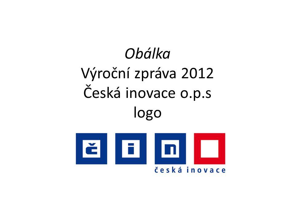 Obálka Výroční zpráva 2012 Česká inovace o.p.s logo