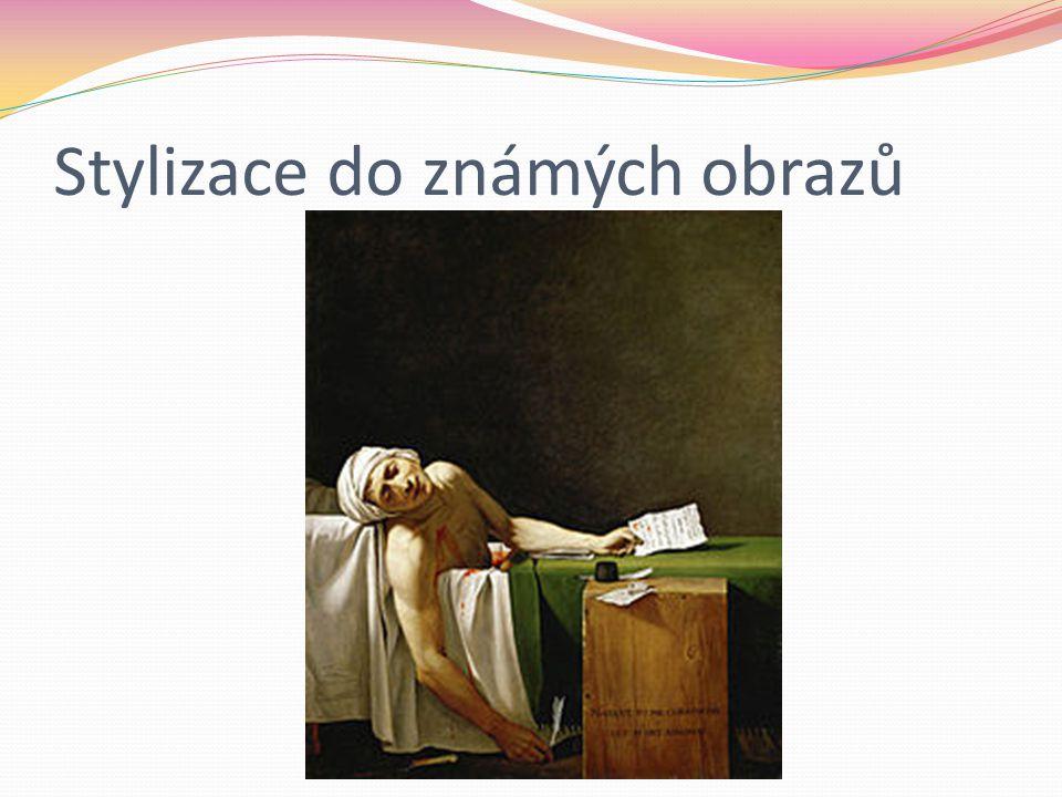 Jacques Louis David – Smrt Marata Politik, lékař, publicista Jakobín Zavražděn v lázni girondistkou Marií Annou Charlottou Corday d´Armont Probodla ho dýkou
