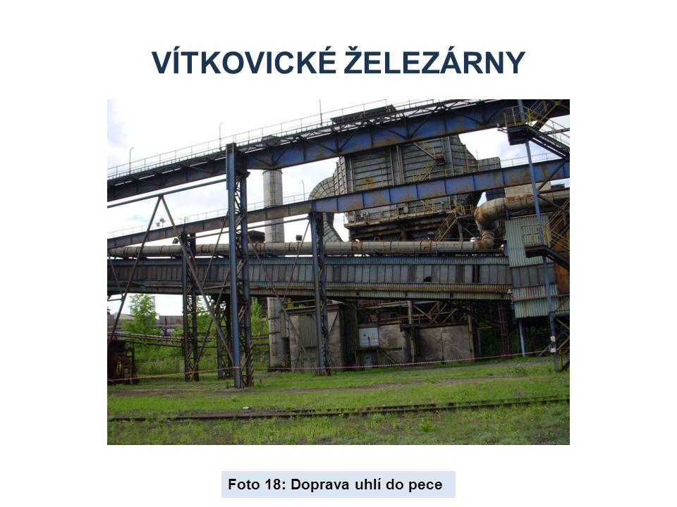 VÍTKOVICKÉ ŽELEZÁRNY Foto 18: Doprava uhlí do pece