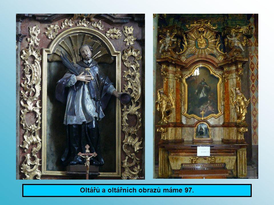 Červená Řečice foto: Henych I.Praha Karlov foto: Kladivová V. Oltářů a oltářních obrazů máme 97.