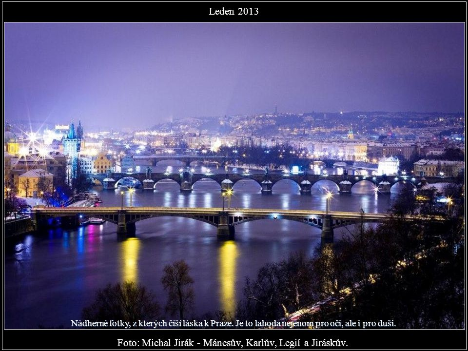Foto: Michal Grosman - Průhled z Jánského vršku na Dům u Zlaté podkovy v Nerudově ulici... Leden 2013 - tak začínáme
