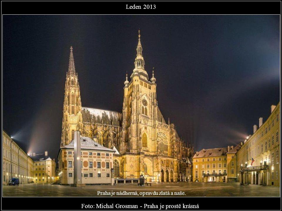 Foto: Michal Jirák - Mánesův, Karlův, Legií a Jiráskův. Leden 2013 Nádherné fotky, z kterých číší láska k Praze. Je to lahoda nejenom pro oči, ale i p