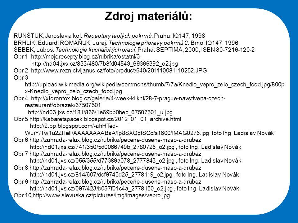 Střední škola Oselce Zdroj materiálů: RUNŠTUK, Jaroslav a kol.