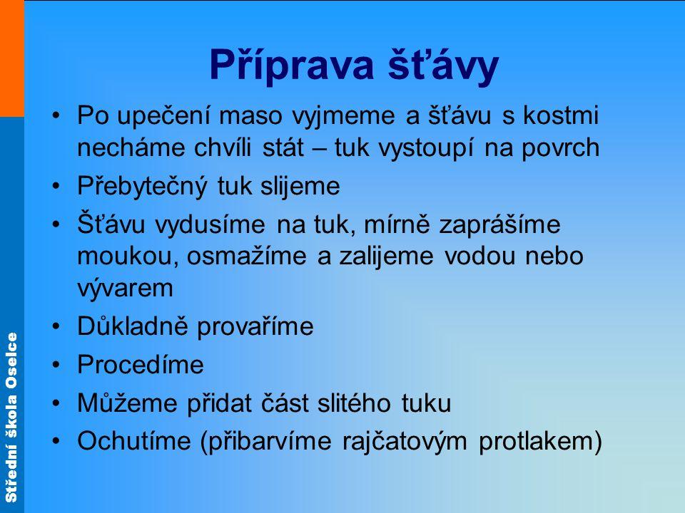 Střední škola Oselce Vepřová pečeně Jaké používáme maso.