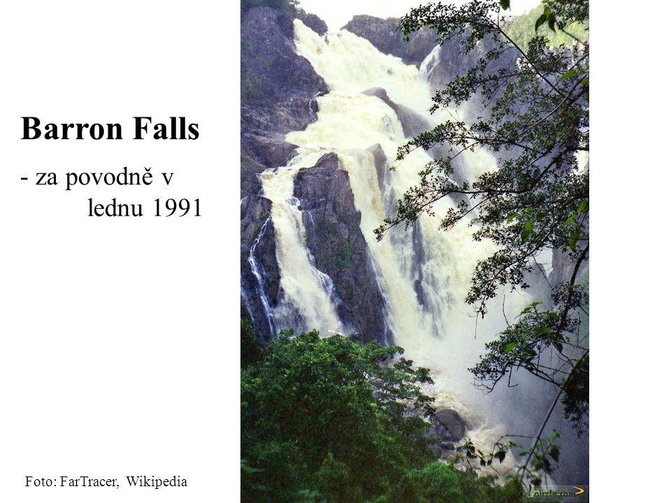 Foto: FarTracer, Wikipedia Barron Falls - za povodně v lednu 1991