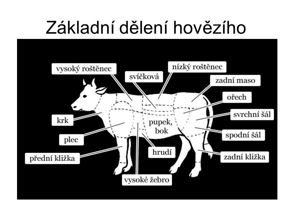 Základní dělení hovězího