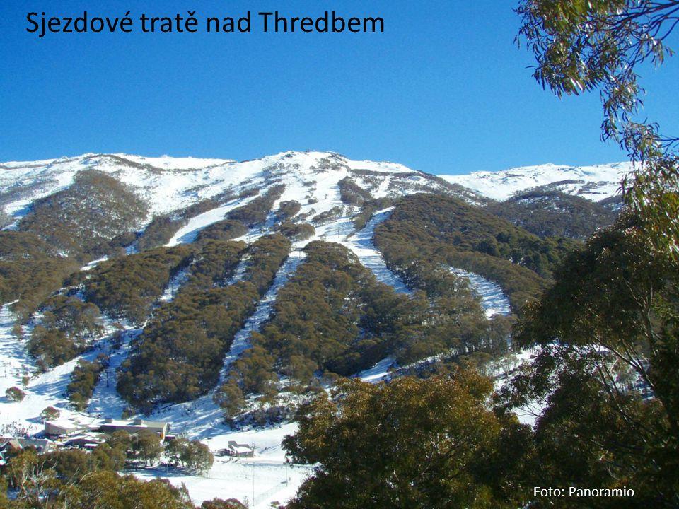 Sjezdové tratě nad Thredbem Foto: Panoramio