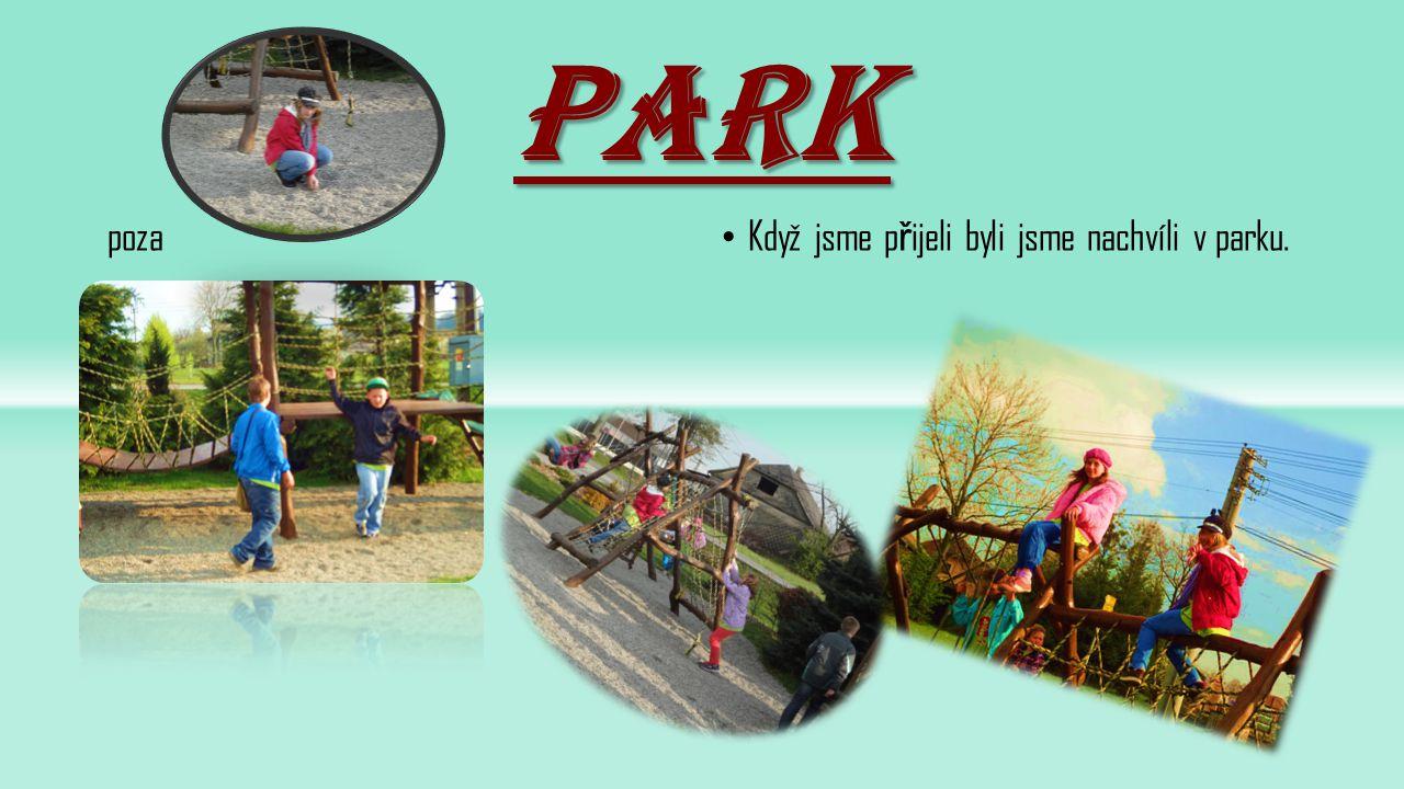park poza Když jsme p ř ijeli byli jsme nachvíli v parku.