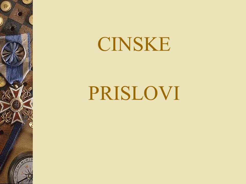 CINSKE PRISLOVI