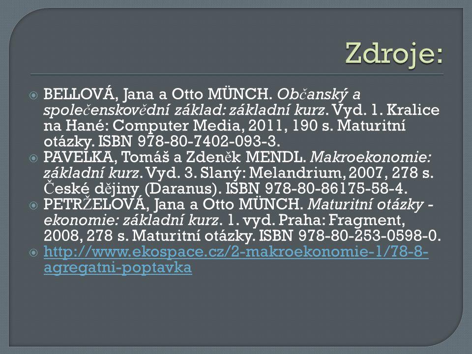 BELLOVÁ, Jana a Otto MÜNCH. Ob č anský a spole č enskov ě dní základ: základní kurz.